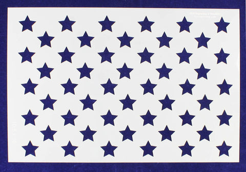 "50 Star Field Stencil 14 Mil -10 1/2""H x 16""W - Painting /Crafts/ Templates"