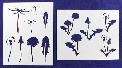 "Mylar 2 Pieces of 14 Mil 8"" X 10"" Dandelions Stencils- Painting /Crafts/ Templates"
