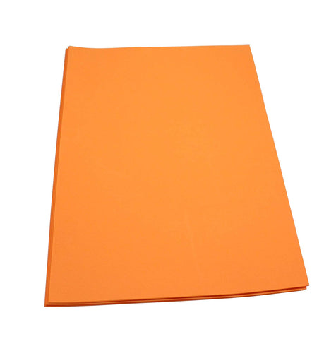 Craft Foam Sheets--12 x 18 Inches - Orange - 5 Sheets-2 MM Thick