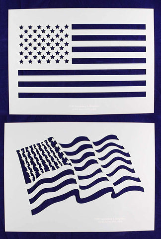 Large US Flag Stencils- 14 mil Mylar-Painting /Crafts/ Templates