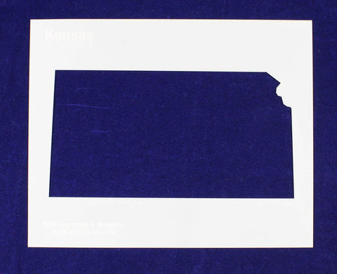 "State of Kansas Stencil 14 Mil 8"" X 10"" Painting /Crafts/ Templates"