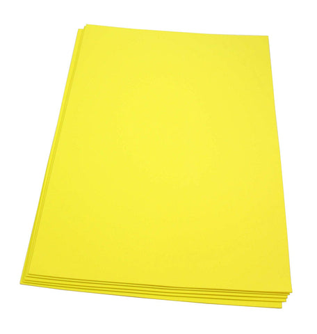 Craft Foam Sheets--12 x 18 Inches - Yellow - 5 Sheets-2 MM Thick