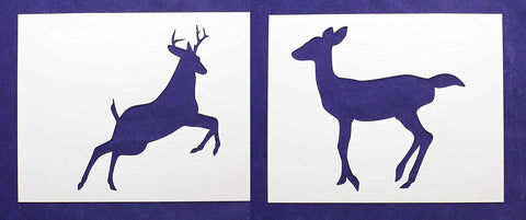 "Deer/Buck Full Body 2 Piece Stencil Set 14 Mil 8"" X 10"" Painting /Crafts/ Templates"