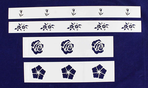 Floral Border 4 Piece Stencil Set-14 Mil -Painting /Crafts/ Templates
