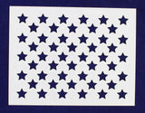 "50 Star Field Stencil 14 Mil -7""H X 9""L - Painting /Crafts/ Templates"