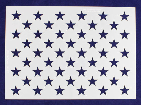 "50 Star Field Stencil 14 Mil -US G Spec 10.25 x 14.47"" Long Star Field- Painting /Crafts/ Templates"