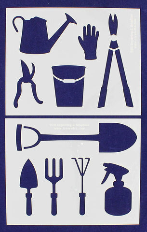 "Gardening Stencils 2 Piece Set - 14 Mil -8"" X 10"" - Painting /Crafts/ Templates"