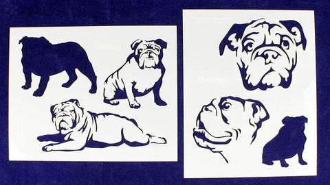 "BullDog Stencils-Mylar 2 Pieces of 14 Mil 8"" X 10"" - Painting /Crafts/ Templates"