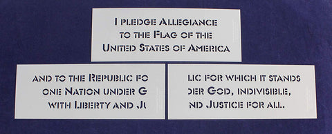 3 Piece Pledge of Allegiance Stencil Set