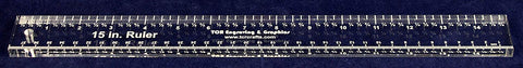 "15"" x 1.5"" Ruler - 3/8"" Clear Acrylic - Quilting/Sewing/Embroidery - Template"