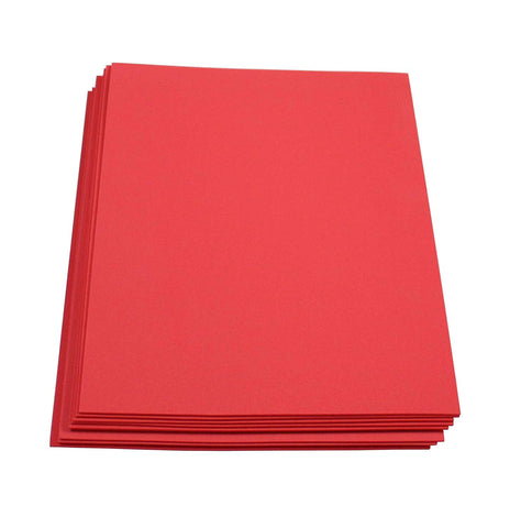"Craft Foam -9"" x 12"" Sheets-Red-10 Pack- 2mm thick"