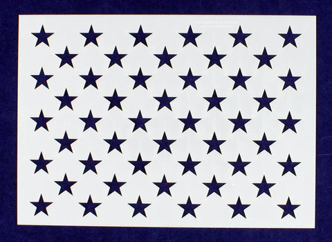 "50 Star Field Stencil-G-Spec 14 Mil -7.25""H X 10.25L"" - Painting /Crafts/ Templates"