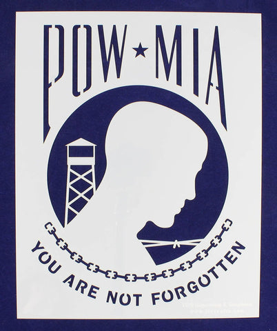 "POW-MIA Flag Stencil 12"" x 15"" Painting /Crafts/ Templates"