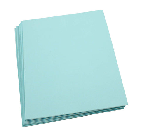 "Craft Foam -9"" x 12"" Sheets-Aqua-10 Pack- 2mm thick"