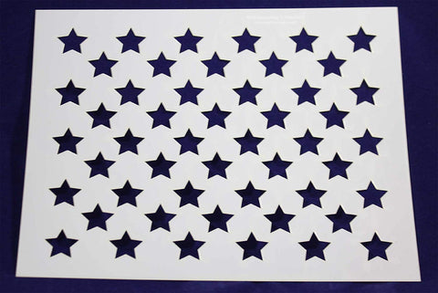 "50 Star Field Stencil 14 Mil -17.6""H x 22""W - Painting /Crafts/ Templates"