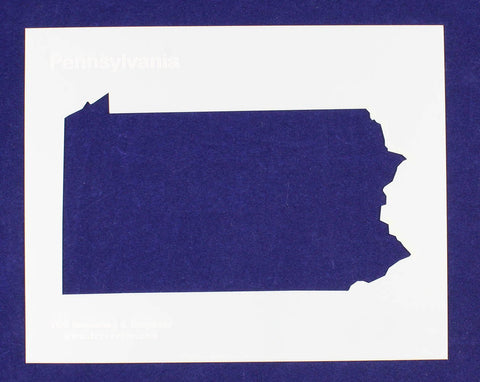 "State of Pennsylvania Stencil 14 Mil 8"" X 10"" Painting /Crafts/ Templates"