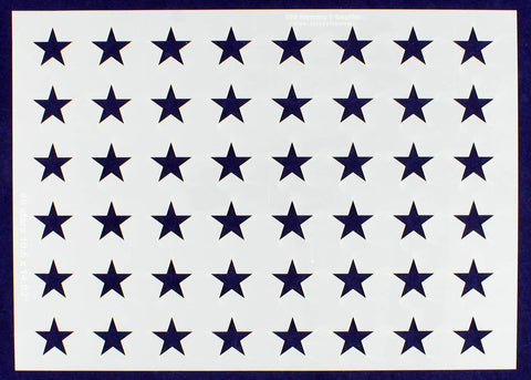 "48 Star Field Stencil 14 Mil -US G Spec 10.5 x 14.82"" Long Star Field- Painting /Crafts/ Templates"