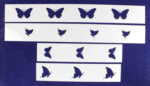 Butterfly Border 4 Piece Stencil Set-Border-14 Mil -Painting /Crafts/ Templates
