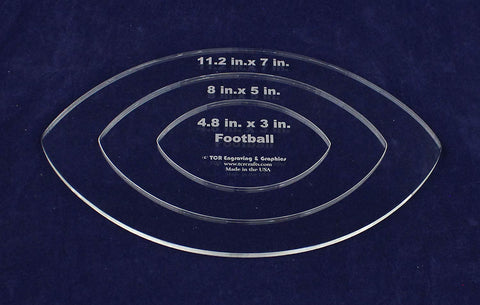"Nested Football Template 1/4"" Acrylic"