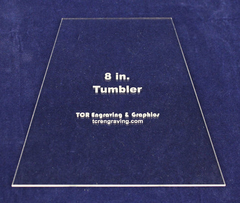 "8"" Tumbler Quilt Template - Actual Size -Clear 1/8"" Acrylic"