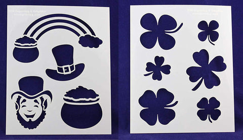 "St. Patrick's Day -2 Piece Stencil Set 14 Mil 8"" X 10"" Painting /Crafts/ Templates"