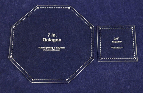 "Matching Square/Octagon Set Templates. 7"". - Clear 1/8"""