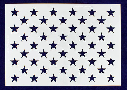 "50 Star Field Stencil 14 Mil -US G Spec 10 3/4"" x 15.2"" Long Star Field- Painting /Crafts/ Templates"