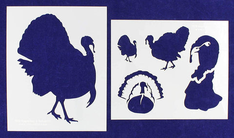 Turkey Stencils 2 Pc Set - 14 mil Mylar