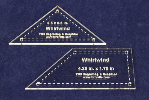 "2 Piece Quilting Whirlwind 6"" Set 1/8"" Acrylic - Template"