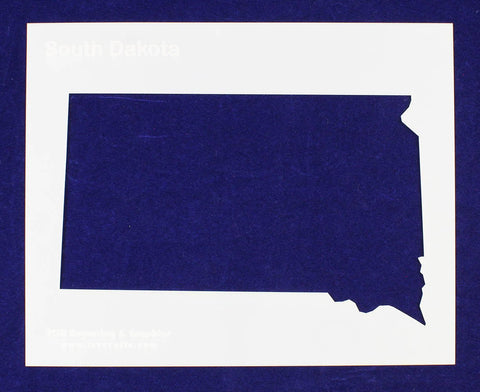 "State of South Dakota Stencil 14 Mil 8"" X 10"" Painting /Crafts/ Templates"