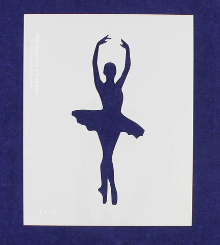 Ballerina Stencil-14 Mil Mylar - Painting/Crafts/ Templates