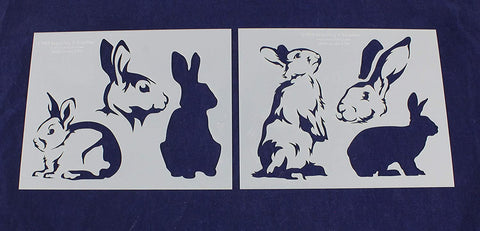 Rabbit Stencils - 2 Piece Set - 8 x 10