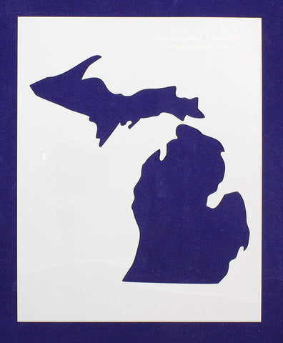 State of Michigan 8x10 Stencil 14 Mil Mylar - Painting /Crafts/ Templates