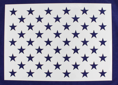 "50 Star Field Stencil 14 Mil -G-Spec 22"" - Painting /Crafts/ Templates"