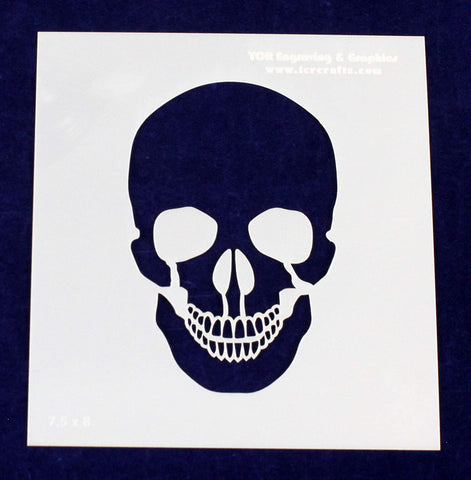 Skull Stencil 14 Mil 7.5 X 8 Inches Painting/Crafts/Templates