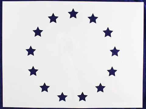 "13 Star Field Stencil 14 Mil 18"" X 24"" Painting /Crafts/ Templates"