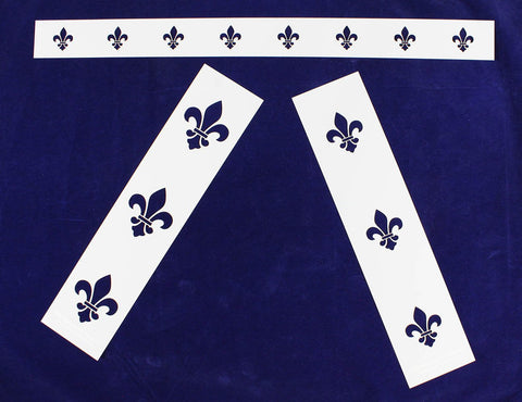 Fleur-De-Lis 3 Piece Stencil Set-Border-14 Mil -Painting /Crafts/ Templates