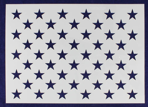 "14"" x 19.76"" G-Spec 50 Star Field Stencil -14 Mil -Painting /Crafts/ Templates"