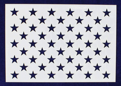 "50 Star Field Stencil 14 Mil -G-Spec 8.47"" - Painting /Crafts/ Templates"