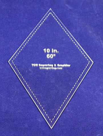 "Diamond Template 10"" - Clear 1/8"" 60 Degree"