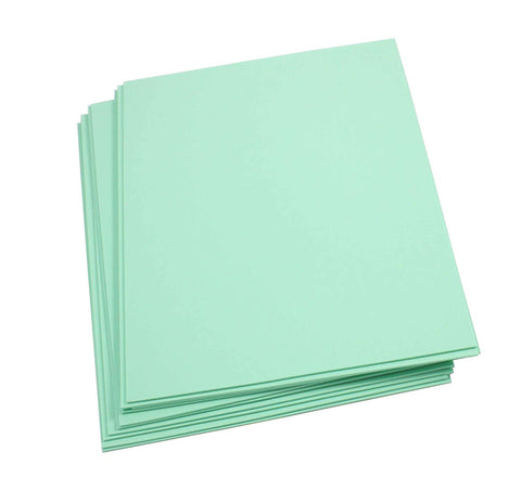"Craft Foam -9"" x 12"" Sheets-Mint-10 Pack- 2mm thick"
