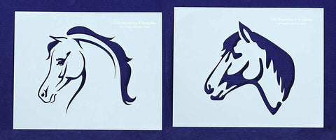 "Horse Head Stencils Mylar 2 Pieces of 14 Mil 8"" X 10"" - Painting /Crafts/ Templates"