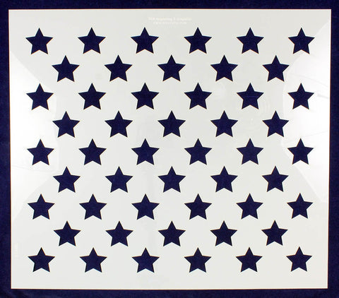 "50 Star Field Stencil 14 Mil -20""W x 17.5""H - Painting /Crafts/ Templates"