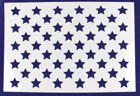 "50 Star Field Stencil 14 Mil -15 1/16""H x 21 1/4""W - Painting /Crafts/ Template"