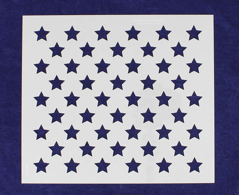 "50 Star Field Stencil 14 Mil -10""W X 8.75""H - Painting /Crafts/ Templates"