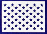 "50 Star Field Stencil 14 Mil -10 1/4""H x 14 1/2""W - Painting /Crafts/ Templates"