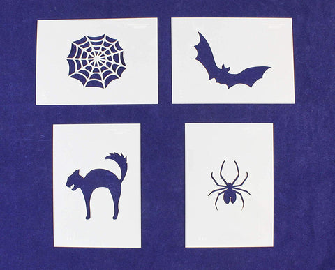 Parent Stencil Halloween 4 Piece Set (Cat, Bat, Web, Spider)