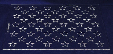 "50 Star Field Set -11.34""H X 16""L""-G-Spec 1/8"" Acrylic- Painting /Crafts/Templates"