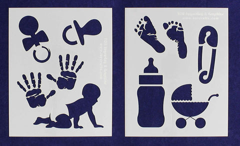 "Baby-Infant Toys Stencils -Mylar 2 Pieces of 14 Mil 8"" X 10"" - Painting /Crafts/ Templates"