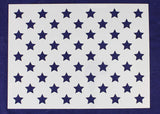 "50 Star Field Stencil 14 Mil -16.5""W X 12.25""H - Painting /Crafts/ Templates"